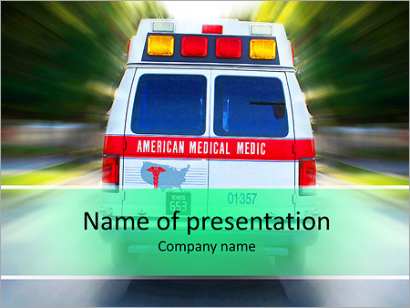 Ambulance Call PowerPoint Template & Backgrounds ID 0000007313 ...