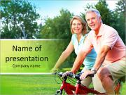 Cycling Together PowerPoint Templates