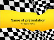 Racing Flagga PowerPoint presentationsmallar
