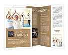 Yoga For Elderly Brochure Templates