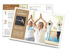Yoga For Elderly Postcard Template