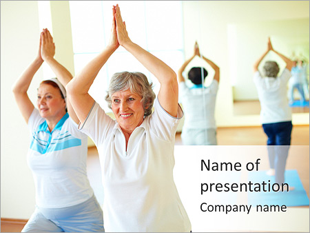 Yoga for elderly powerpoint template backgrounds id 0000007322 yoga for elderly powerpoint templates toneelgroepblik Image collections