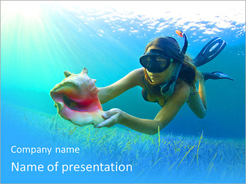 Woman Diving PowerPoint Template