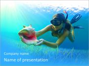 Woman Diving PowerPoint Templates