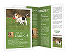 Puppy With Toy Brochure Templates