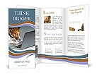Dog With Laptop Brochure Templates