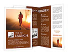 Jogging At Sunset Brochure Templates