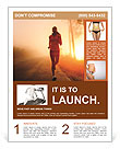 Jogging At Sunset Flyer Templates