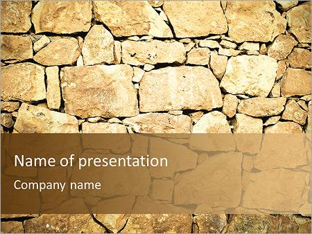 Mur en pierre Modèles des présentations  PowerPoint