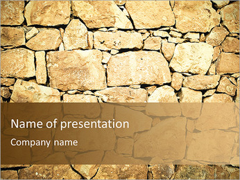 Mur en pierre Modèles des présentations  PowerPoint - Diapositives 1
