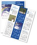Rainbow Newsletter Template