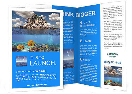 island brochure template uninhabited island brochure template design id