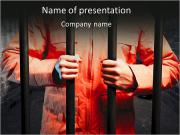 Man In Prison PowerPoint Template
