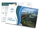 Mountain Sheep Postcard Template