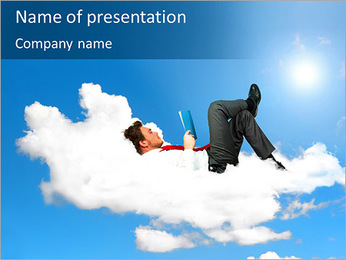 Businessman Reading PowerPoint Template