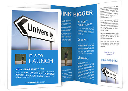 University Study Brochure Template & Design Id 0000007372