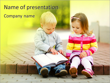 Kids reading powerpoint template backgrounds id 0000007373 kids reading powerpoint templates toneelgroepblik Images