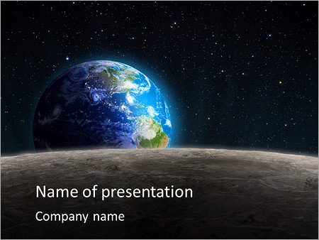 earth in universe powerpoint template backgrounds google slides