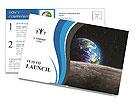 Earth In Universe Postcard Templates