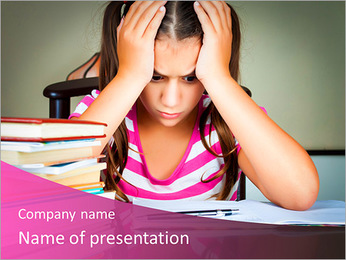 Difficult Homework PowerPoint Template