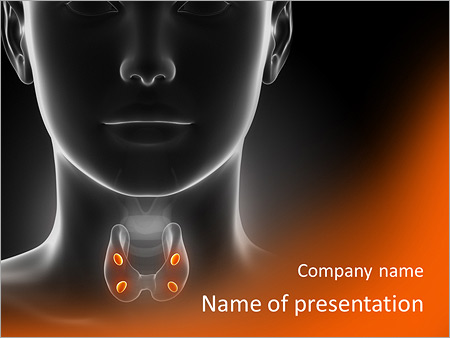 thyroid gland powerpoint template & backgrounds id 0000007378, Powerpoint templates