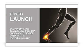 Pain In Ankle Business Card Template