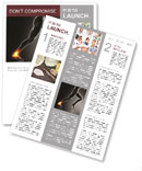 Pain In Ankle Newsletter Template