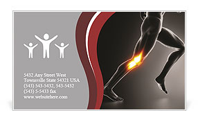 Knee Paint Business Card Template