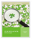 Green Puzzle Word Templates