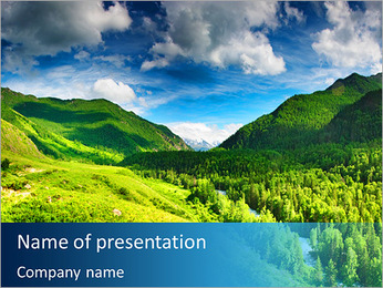 Green Valley PowerPoint Template