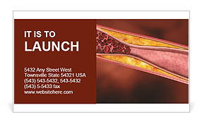 Blood Vessels Business Card Template