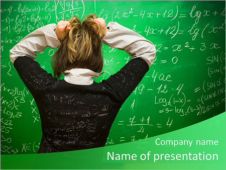 difficulty in math powerpoint template & backgrounds id 0000007410, Modern powerpoint