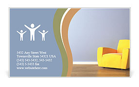 Yellow Armchair Business Card Template