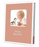 Girl With Kitty Presentation Folder