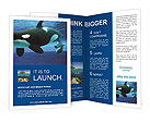 Whale In Ocean Brochure Templates