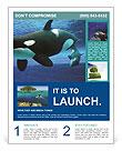 Whale In Ocean Flyer Template