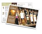 Wine Shop Postcard Template