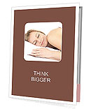 Woman Sleeping Presentation Folder
