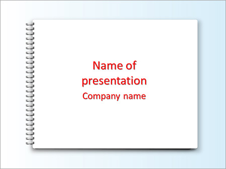 Blank Notebook Powerpoint Template Backgrounds Google Slides Id