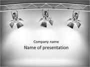 Яркий свет репроектора Шаблоны презентаций PowerPoint