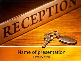 Reseption Stand PowerPoint Template