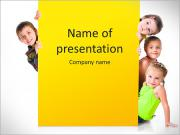 Group Of Children PowerPoint Templates