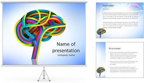 Colored Brain PowerPoint Template & Backgrounds ID 0000007501 ...