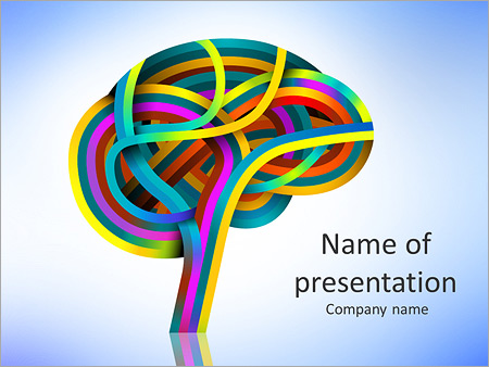 Colored Brain Powerpoint Template  Backgrounds Id