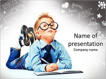 Smart Schoolboy PowerPoint Template