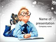 Smart Schoolboy PowerPoint Templates