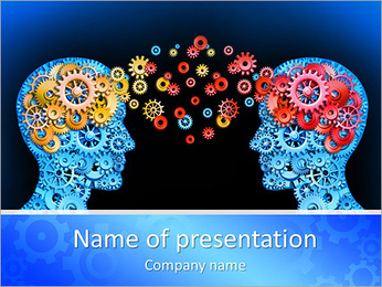 Brain Interraction PowerPoint Template