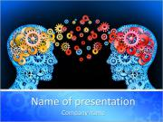 Brain interraction Sjablonen PowerPoint presentatie