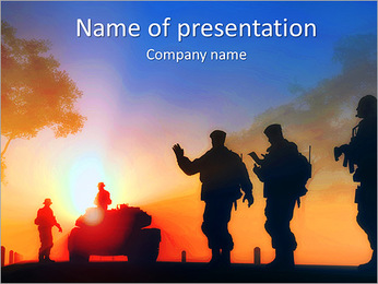 Tank PowerPoint Template