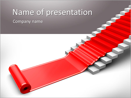 Red carpet powerpoint template smiletemplates red stairs powerpoint template toneelgroepblik Choice Image